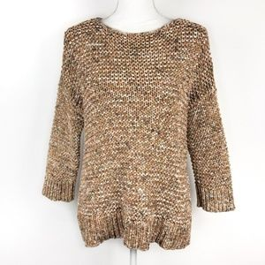 Chico's Cotton Chunky Knit Sweater Size L